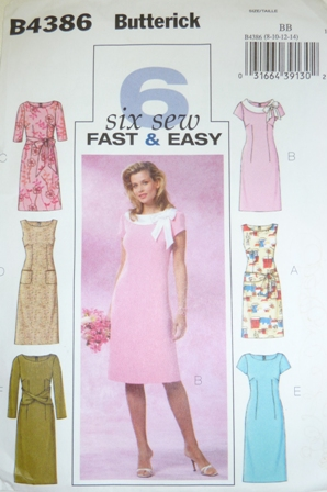 Butterick Pattern 4386 Sewing Classes Geelong