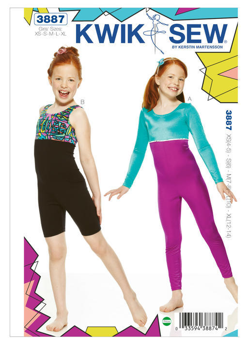 Kwik Sew Pattern 3887 - Childrens Leotard