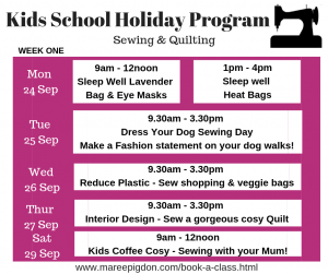 W1 - Kids School Holiday Program Spring