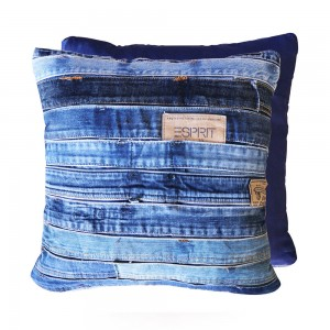 Denim Cushion Patchwork 01