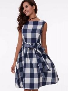 Gingham Dress 01