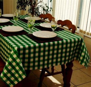 Gingham tablecloth 01