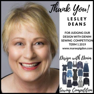 Lesley Dean Sewing Competition Judge - Design With Denim