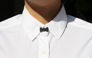 Shirt Bow Tie Button
