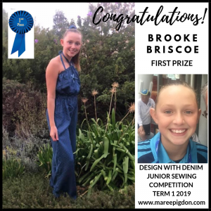 Winners Design With Denim - 1st Brooke Briscoe
