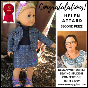 Winners Design With Denim - 2nd Helen Attard