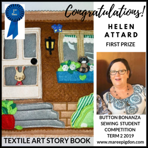 WINNER - Button Bonanza Adult 1st Prize - Helen Attard