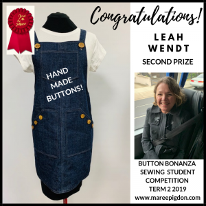 WINNER - Button Bonanza Adult 2nd Prize - Leah Wendt