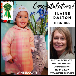 WINNER - Button Bonanza Adult 3rd Prize - Elaine Dalton