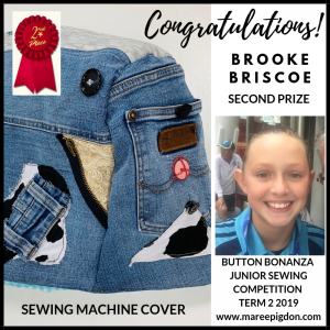 WINNER - Button Bonanza Junior 2nd Prize - Brooke Briscoe