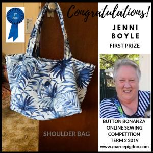 WINNER - Button Bonanza Online 1st Prize - Jenni Boyle