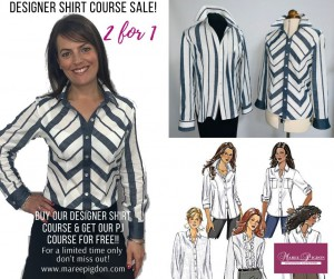 2 for 1 Offer - Designer Shirts Online Sewing Course